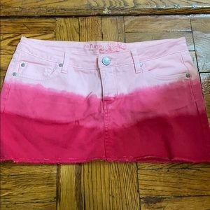 2 for $15 Refuge pink denim mini skirt